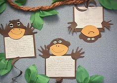MONKEY CRAFT | Mrs. Attaya's First Grade Literacy Stations