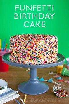 The funfetti cake screams fun and happiness inside and out, and is the most awesome birthday cake you can bake for someone you love.