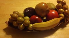 Wooden Fruit and Bowl or Tray  11 Piece Set  by FourthEstateSale, $25.00