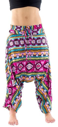 New Pink Kali print. Harem pants for yoga and any kind of lifestyle. Shop now at Buddha Pants.com