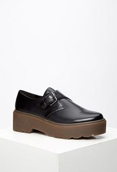 Lug-Sole Monk Strap Loafers | Forever 21 - 2000077565