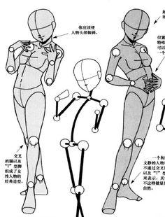 日本漫画创作技法 肢体表情 decrypted pose 9
