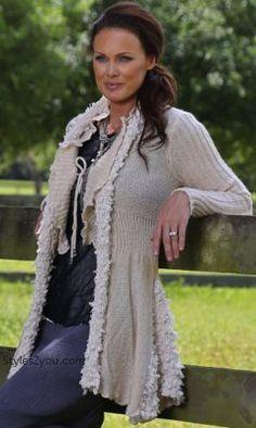 Frances Retro Ruffle Cardigan In Ivory Sacred Threads Clothing