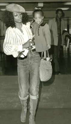 Diana Ross and Daughter, Rhonda Ross