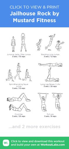 Jailhouse Rock by Mustard Fitness – click to view and print this illustrated exercise plan created with #WorkoutLabsFit