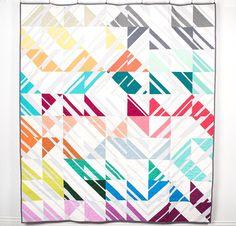 Kona Cotton Fabric & Emily Cier Percolate Pattern Quilt Kit - None