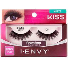 1d37da3fb3f Kiss i-ENVY Premium Human Remy Hair Eyelashes 1 Pair Pack - Double Layer 05  #KPE75