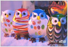 #Owl Love You Forever (Corona): Lucky Lucky colorful owl craft ornaments