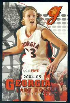 2004 Georgia Lady Dogs Womens Basketball Schedule Frye | eBay