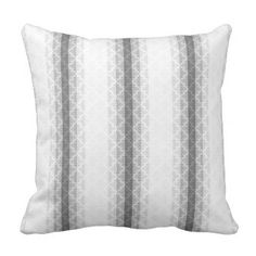 bySMYRNA | Shades of Gray White Damasks & Stripes Throw Pillow - #customizable create your own personalize diy