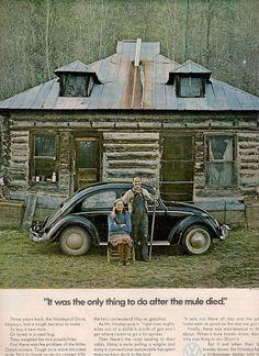 =-=vintage 1971 Volkswagen advertisement bug