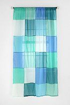 Colorblock Patchwork Curtain  #UrbanOutfitters