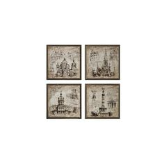 Architectural Museum Prints ($85) ❤ liked on Polyvore