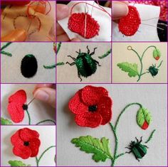 embroidery beading bugs - Google Search