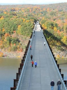 Walkway over the Hudson, a linear walkway spanning the Hudson River. At 212 feet tall and 1.28 miles long, it is the longest, elevated pedestrian bridge in the world.