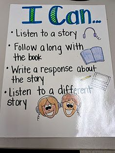 listening center 'I can' statements