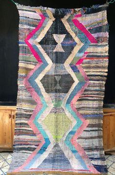 edit9: Vintage Flat Weave Boucherouite Rug