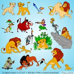 Digital Clipart The Lion King party Africa