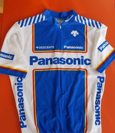 #cyclejersey  @TheRideJournal Classic (repro) @PanasonicUK design from 1980s.  via @isetta_windsor