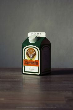 Jagermeister: i miss you so<3 the milk carton was cheezy:P