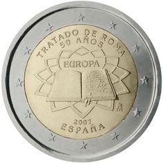 Monedas 2 € conmemorativas - Tratado de Roma 2007 - España 2 euros