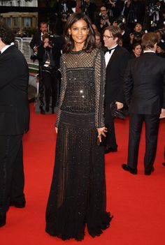 liya kebede in Roberto Cavalli at the 66th Annual Cannes Film Festival