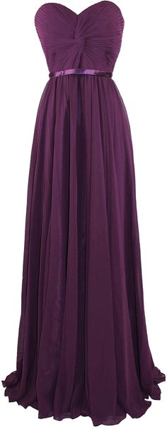 eggplant dress same style as green one, if you end up choosing a lavender/purple wedding theme. They don't have actual lavender, just eggplant, pink, maroon, and other colors. Meier Women's Strapless Sweetheart Pleated Evening Prom Dress at Amazon Women's Clothing store: