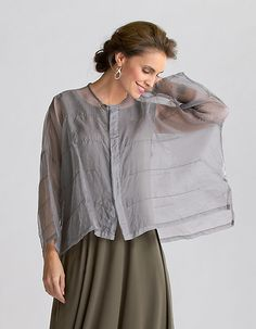 """Organza Pintuck Jacket"" Silk Jacket by Planet Clothing on Artful Home"