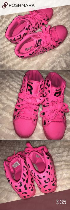Neon Pink & black T-Raww Reebok These are limited Edition Reebok sneakers from a collaboration with Tyga, the rapper. Worn a total of 4-5 times, in perfect condition, & make for a great conversation starter! Reebok Shoes Sneakers