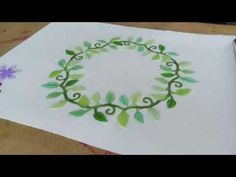 Hello my crafty friends, in this video you can look over my shoulder, when i'm creating a simple birthdaycard with a floral wreath-design. Cardmaking, Floral Wreath, Wreaths, Make It Yourself, Crafty, Creative, Youtube, Blog, Flower Crowns