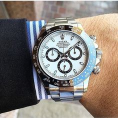 The New Rolex Daytona: Still the watch to own. #rolexero #menstyle #gq #wsj credit @dailywatch #rolex #rolexdaytona #menstyle #watches #watch #watchpassion #watchporn