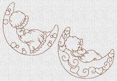 DESCARGA instantánea dulces sueños cofias por embroiderygirl