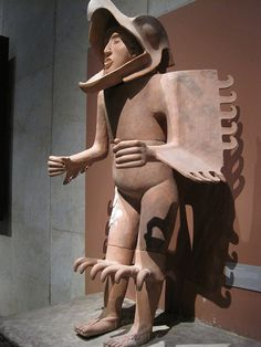 Aztec/Mexica (life-size clay and stucco statue of an eagle warrior) Mexica, Eagles, Aztec, Statue, Clay, Image, Life, Clays, Eagle
