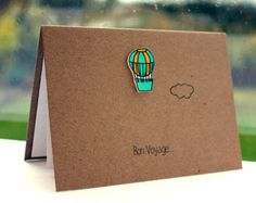 Handmade Bon Voyage Card  //  Goodbye Card  //  Leaving Card  //  Hot Air Balloon