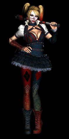 Harley Quinn (Arkham Knight) Model Render by on DeviantArt Harley Quinn Drawing, Joker And Harley Quinn, Knight Models, Frame Arms Girl, Batman Arkham Knight, Steampunk Costume, Cosplay Outfits, Marvel, Costumes