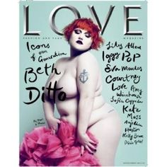 Beth Ditto on the cover of Love Magazine 2008
