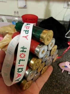 Shotgun shell ornament. I MADE 'DIS! :)