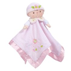 Snuggle with Claire Doll Lil' Snuggler by Douglas Toy that's a cuddly first doll & blankie for baby girls. With soft velour in a pink & white stripe pattern, Claire Doll lovey security blanket has an embroidered face & flowers & pink satin. Toddler Toys, Baby Toys, Shower Bebe, Baby Shower, Baby Lovies, Embroidered Towels, Personalized Baby Gifts, Security Blanket, Baby Safe