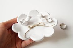 Love Bird Wedding Ring Plate Bird Plate Cloud Shaped by HerMoments