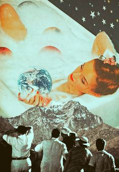 Alluring Of The Universe. Surreal Mixed Media Collage Art By Ayham Jabr.