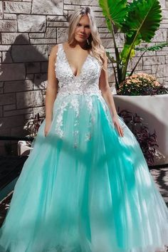 Stunning Lace Applique Ball Gown Long Ball Gowns Prom Dresses Quinceanera Dress, SRS, This dress could be custom made, there are no extra cost to do custom size and color. Prom Dresses Two Piece, Beautiful Prom Dresses, Cheap Prom Dresses, Flower Dresses, Girls Dresses, Wedding Dresses, Long Dresses, Elegant Dresses, Homecoming Dresses