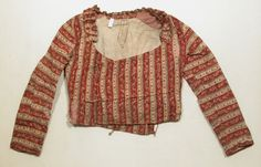Jacket  National Trust Inventory Number 1350382 Date1775 - 1825 MaterialsCotton, Linen Place of originFrance CollectionSnowshill Wade Costume Collection, Gloucestershire (Accredited Museum)