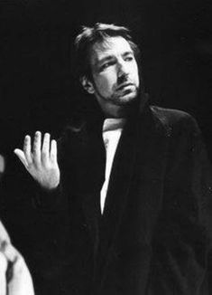 Young Alan Rickman in Long Bla. is listed (or ranked) 11 on the list 12 Pictures of Young Alan Rickman Alan Rickman Young, Alan Rickman Always, Royal Shakespeare Company, Alan Rickman Severus Snape, Ares, British Actors, Black And White Pictures, Best Actor, Actors & Actresses