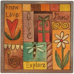 Sticks Plaque Small by Sarah Grant Know Love