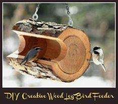 89 Unique DIY Bird Feeders - Full Step by Step Tutorials - DIY & Crafts Diy Garden, Garden Art, Garden Ideas, Wooden Garden, Garden Inspiration, Garden Birds, Garden Design, Backyard Ideas, Garden Landscaping