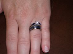Narrow Azurite Inlay Titanium Ring   Hawaii Titanium Rings Wedding Ring Hand, Wedding Rings, Titanium Rings, Malachite, Band Rings, Hawaii, Shots, Blue, Hawaiian Islands