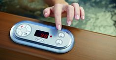 Have full control of your hot tub! Available at Eden Spas Jacuzzi in Prince George, BC. Jacuzzi Hot Tub, Home Spa, Cooking Timer, Spas, Home And Garden, Control Panel, Outdoor, Prince, Shower Cubicles