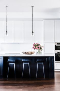 designed by Tonka Andjelkovic photography by MareeHomer Black Kitchen Cabinets A Black Kitchen Cabinets Andjelkovic black cabinets Designed kitchen MareeHomer Photography Tonka Black Kitchen Cabinets, Refacing Kitchen Cabinets, Black Kitchens, Home Kitchens, White Cabinets, Kitchen Black, Kitchen Counters, Staining Cabinets, Layout Design