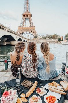 Only KIND of obsessed with all of their hair and outfits... the Eiffel Tower isn't bad either! Barefoot Blonde Hair Extensions