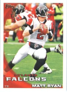 2010 Topps NFL Football Card # 22 Matt Ryan - Atlanta Falcons - NFL Trading Card in a Protective ScrewDown Case! by Topps. $1.00. 2010 Topps NFL Football Card # 22 Matt Ryan - Atlanta Falcons - NFL Trading Card in a Protective ScrewDown Case!